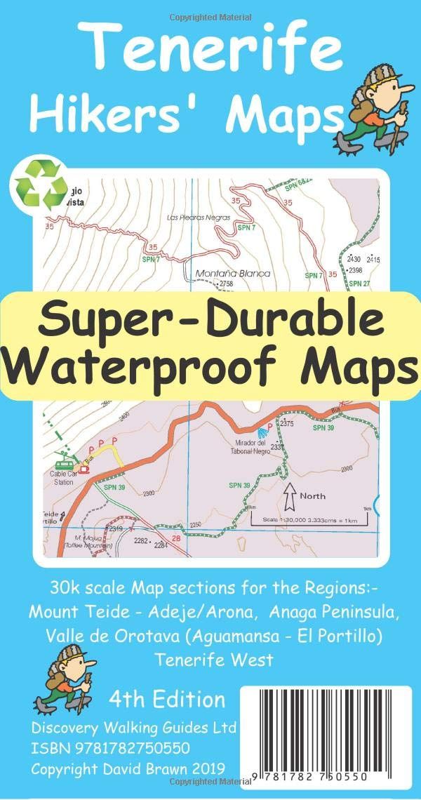 Tenerife Hikers\' Super-Durable Maps: Amazon.de: David Brawn ...
