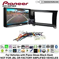 Volunteer Audio Pioneer AVIC-8201NEX Double Din Radio Install Kit with GPS Navigation Apple CarPlay Fits 2007-2013 Non Amplified Toyota Tundra, 2008-2013 Sequoia (Metallic Gray)