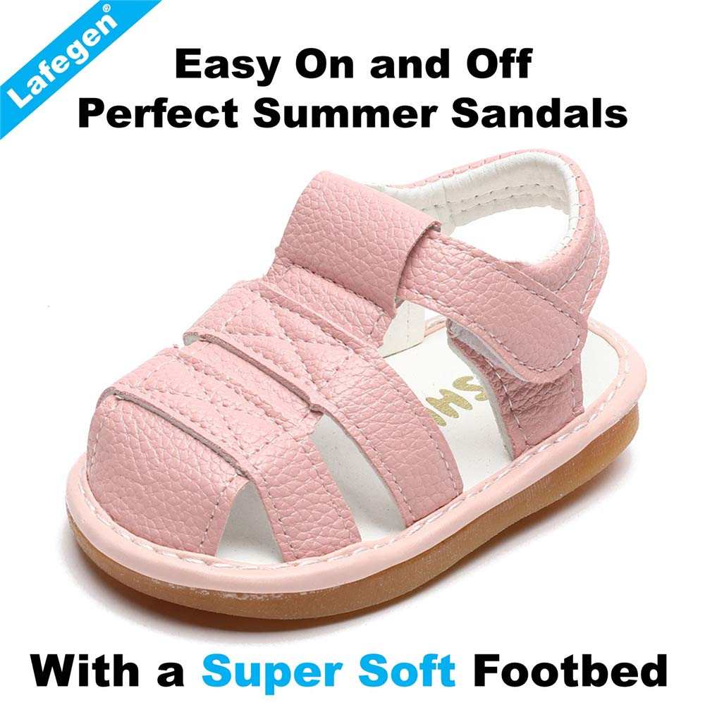 Toddler Baby Boys Girls Suqeaky Shoes Soft Sole Non Skid First Walker Infant Crib Summer Sandals for Baby Boys Girls