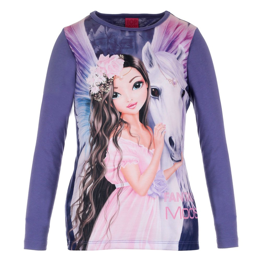 Violet Top Model Girls T-Shirt Longsleeve