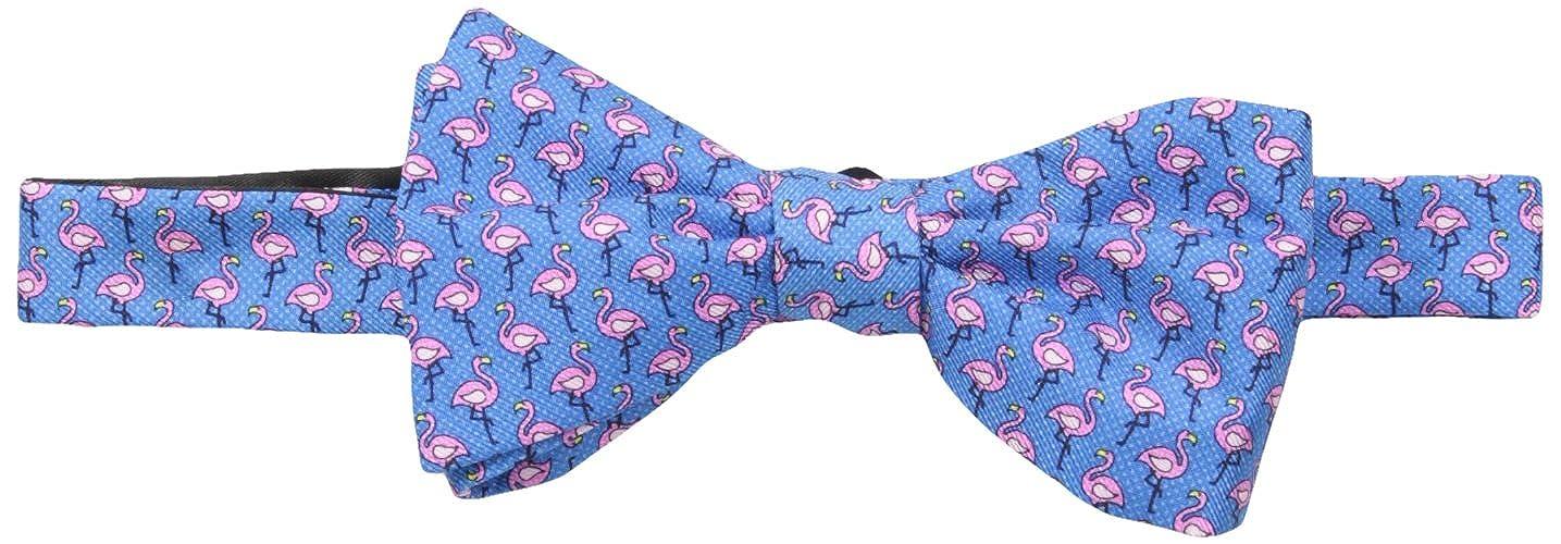 Tommy Hilfiger mens Flamingo Print Self Tie Bow Tie Fuschia One Size Tommy Hilfiger Neckties 8TB71608-654