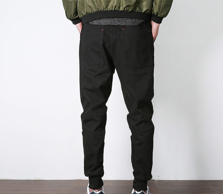 Stretch Mens Joggers Pants 2019 Spring//Autumn Khaki//Black Harem Pants Men Casual Trousers