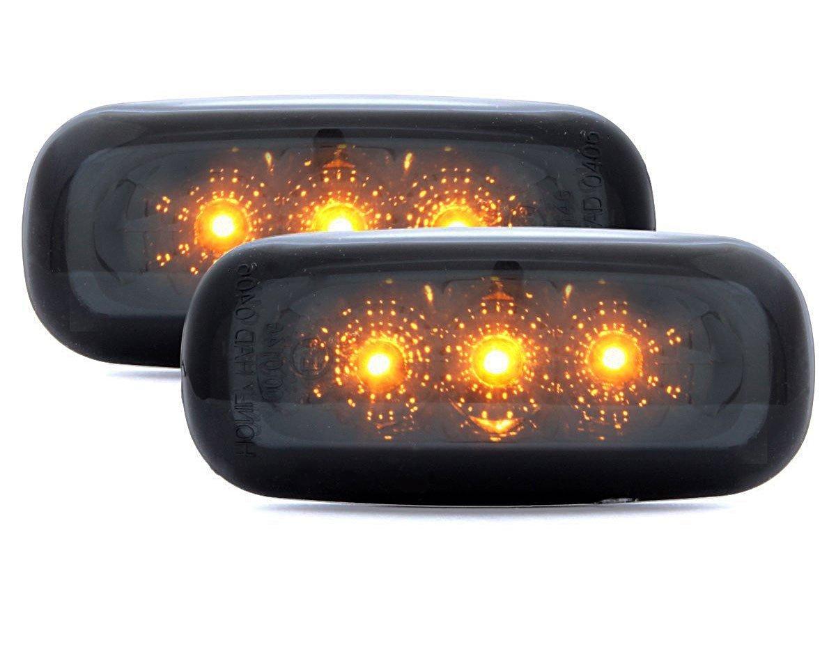 Clignotants R/ép/étiteurs Lat/éraux Noir Fum/é /À LED 1422029