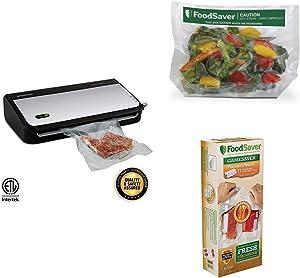 FoodSaver FM2435 Vacuum Sealer with Bonus Handheld Sealer/Meal Prep Kit