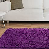 Dorm Rugs Lavish Home High Pile Carpet Shag Rug, 21 by 36-Inch, Purple