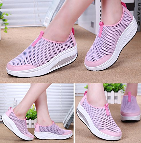 Mode Gym Creepers Chaussures Sport Hishoes Fitness Basket Sneakers Plateforme Marche Bottes Plate Femme Compensées P8qwxZ4X