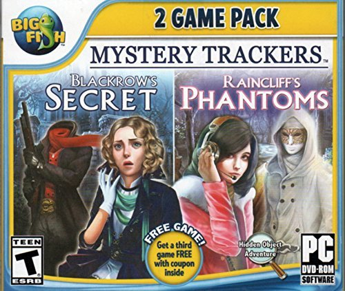 Mystery Trackers BLACKROWS SECRET + RAINCLIFFS PHANTOMS Hidden Object PC Game DVD -ROM