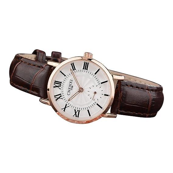Relojes para Mujeres Impermeable Reloje para Mujer Vestir Slim Business Clásico Casuales Moda Negocios Reloj de Pulsera con Correa de Cuero: Amazon.es: ...