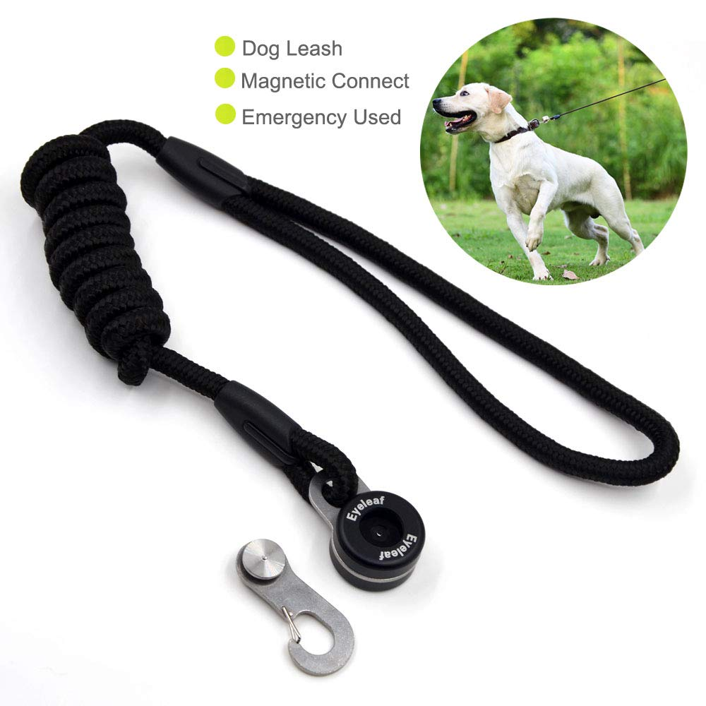 outdoortop Hands Free Leash Fastener - Strong Magnetic hook Pets Lock Carabiner Quick Link Nylon Climbing Rope Dog Leash Free Control-for Running Hiking Jogging and Walking for Small-Medium Dogs