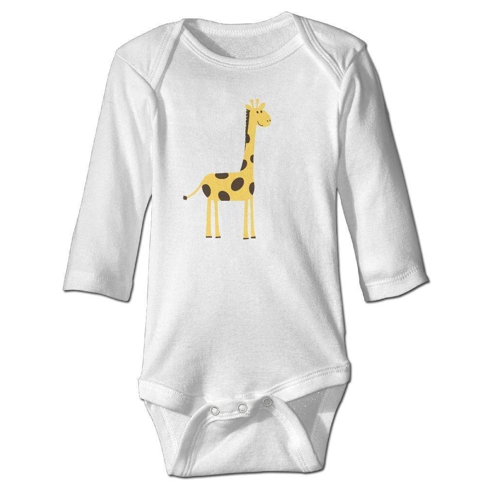 braeccesuit Infant Cute Giraffe Long Sleeve Romper Onesie Bodysuit Jumpsuit