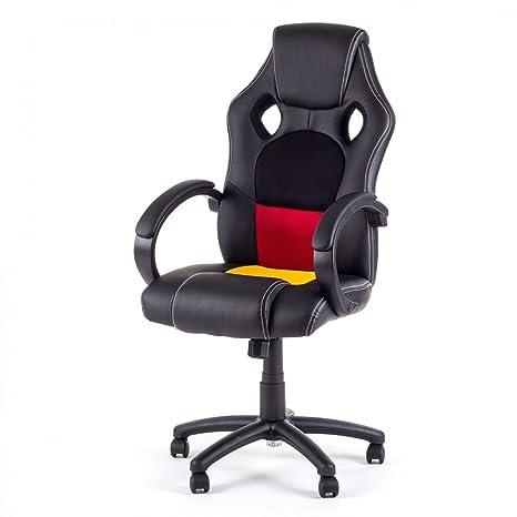 MY SIT Silla de Oficina Silla de Escritorio Gaming Racing Recubrimiento de PU diseño Alemania
