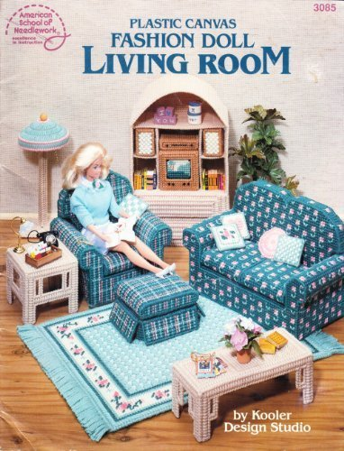 (Plastic Canvas Fashion Doll Living Room)