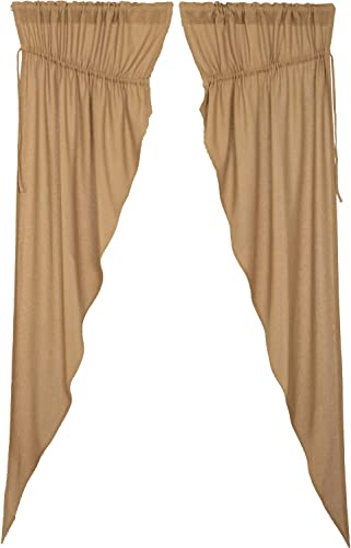 VHC Brands Burlap Natural Curtain