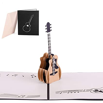 Guitar 3D Pop Up Greeting Cards Anniversary Baby Birthday Halloween New Year Thanksgiving Christmas Valentine Wedding Amazonin Office Products