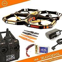 zoopa Acme Q 650Razor QuadroLovely For Outdoor 2.4Ghz 150M Range (Zq0660| Light Switch 360° Flip 3Speeds)