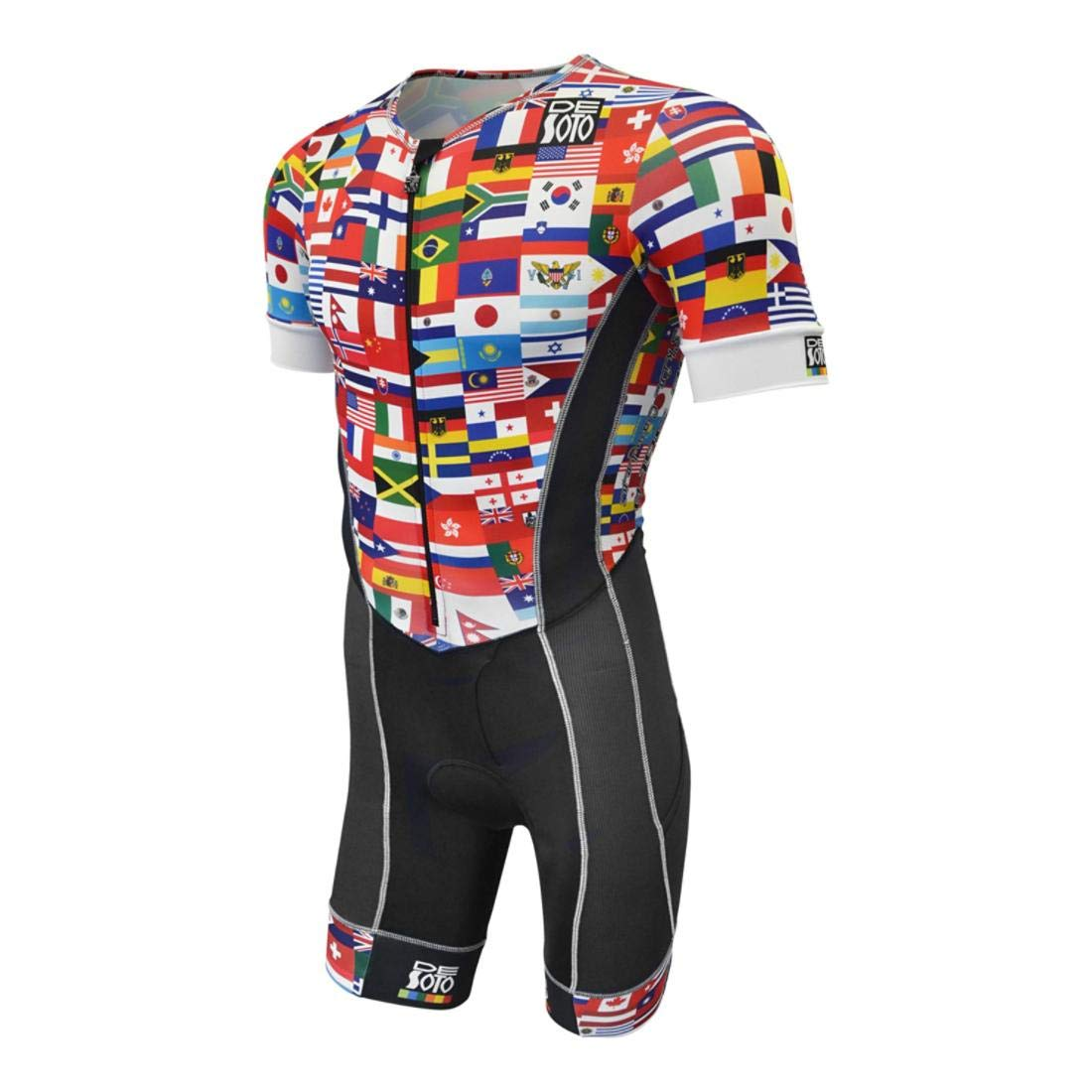 Desoto Men 's Forza Tri Suit with Sleeves – 2018 Small 旗 B07HMMXRK2