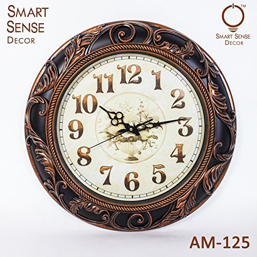Smartsense 20 Inches Wall Clock Creative Gift Design Decorative Indoor Kitchen Clock, 3D Numbers Display.