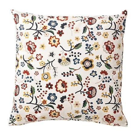 IKEA brunort - Funda para cojín, diseño de flores en color ...