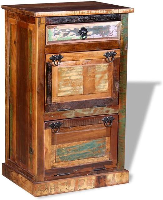 Festnight Meuble TV Style Vintage pour Salon ou Chambre /à Coucher Blanc 100 x 35 x 35 cm Bois