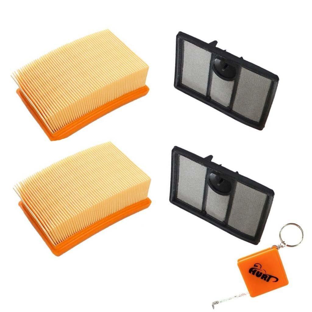 HURI 2 Air Filter Kit for Stihl TS700 TS800 4224-141-0300 4224-140-1801