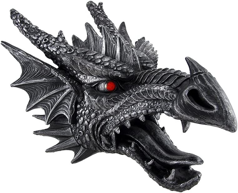 Things2Die4 Fierce and Menacing Saurian Hanging Dragon Head