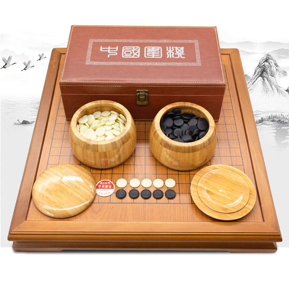 Kindlovtoys Go ゲームセット プレイフィールド 中国戦略ボードゲーム 竹製ゴーボード ボウルとストーン付き 2人 クラシックゴーボードとシングル凸石 52cm48cm*6.5cm kindlov B07SPXX98W 画像参照 52cm48cm*6.5cm