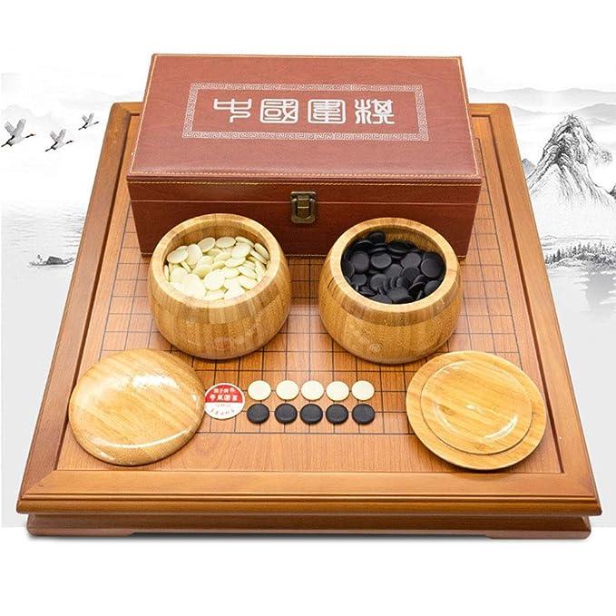 Dfghbn Juego de Mesa de Estrategia Chino Go Set con Bamboo Go ...