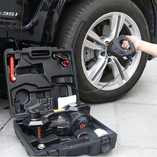 Buy 12V DC 1 Ton Electric Hydraulic Floor Jack Set For Car Use (6.1-17.1 inch, Black)
