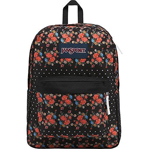 Floral Superbreak adult Dot Jansport Backpack Black Unisex Label 6xYwaR7q