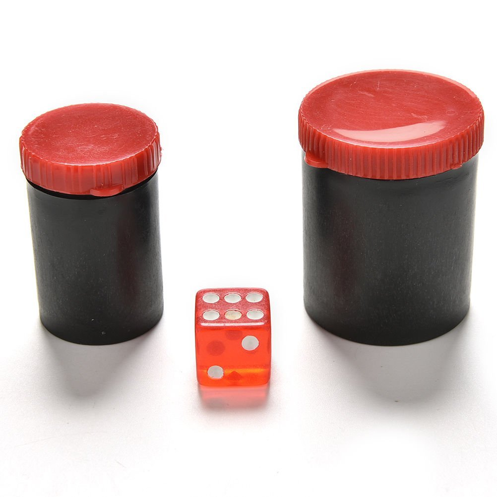 Crqes 1 Set Talking Dice Telescope Binoculars Magic Toys Listen Dice Box-magic Props Random Color