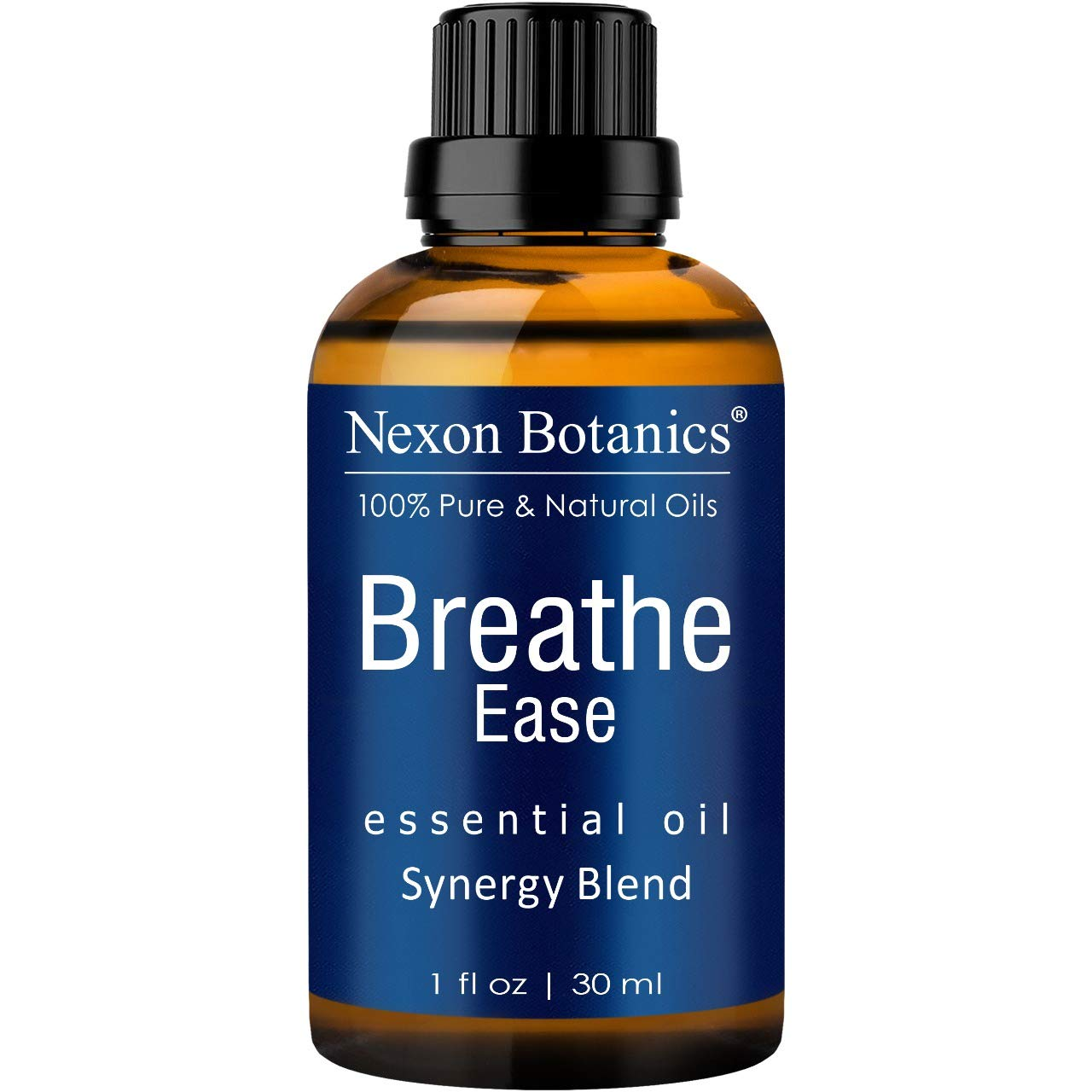 Nexon Botanics Breathe Essential Oil Blend 30 ml - Pure, Natural Breathe Easy from Eucalyptus, Peppermint, Rosemary and Niaouli - Helps Relief Sinus, Colds, Flu, Cough and Congestion