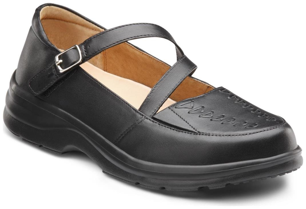 Dr. Comfort Women's Betsy Black Diabetic Mary Jane Shoes