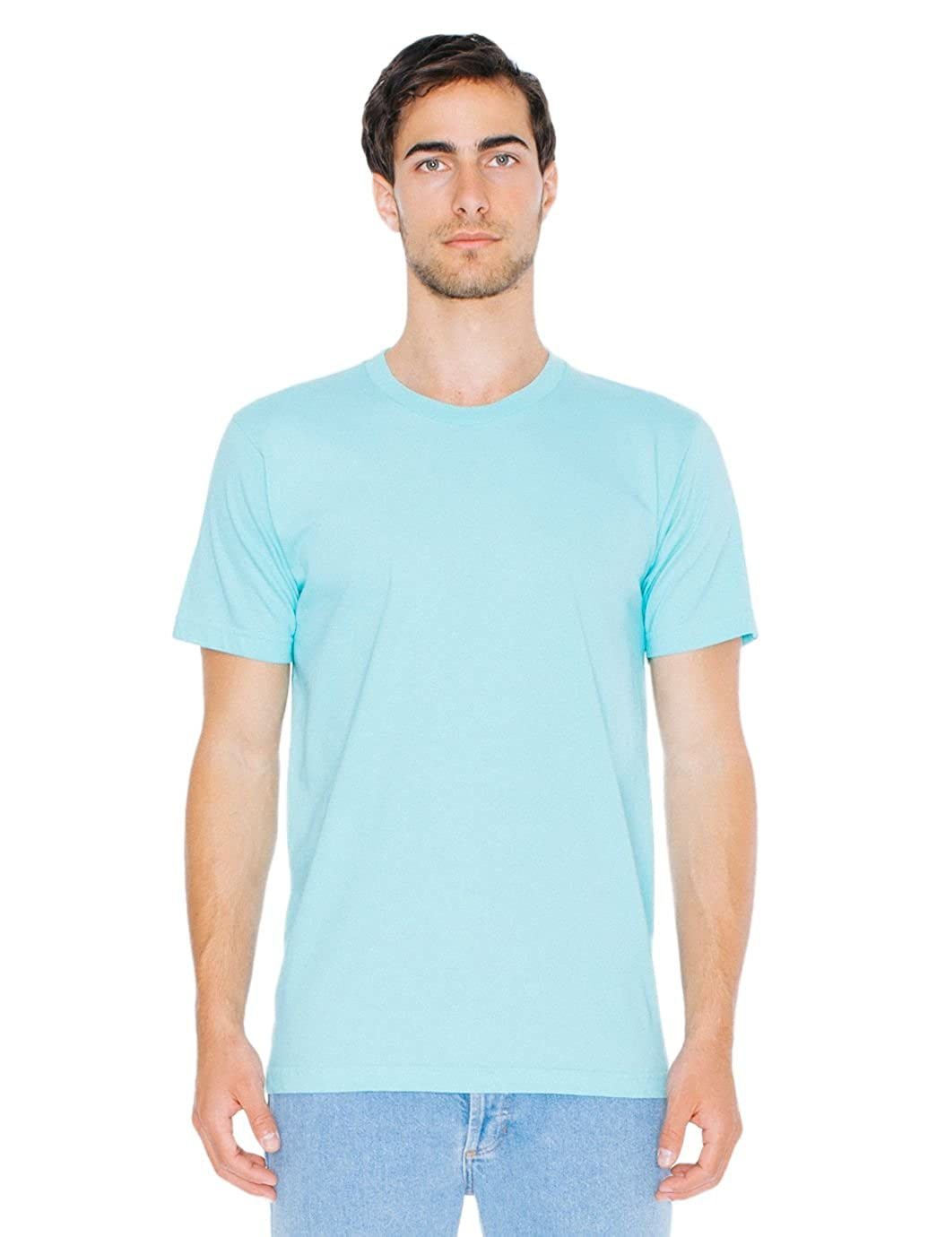 88230e9fa Amazon.com: American Apparel Men's Unisex Fine Jersey Short-Sleeve T-Shirt:  Clothing