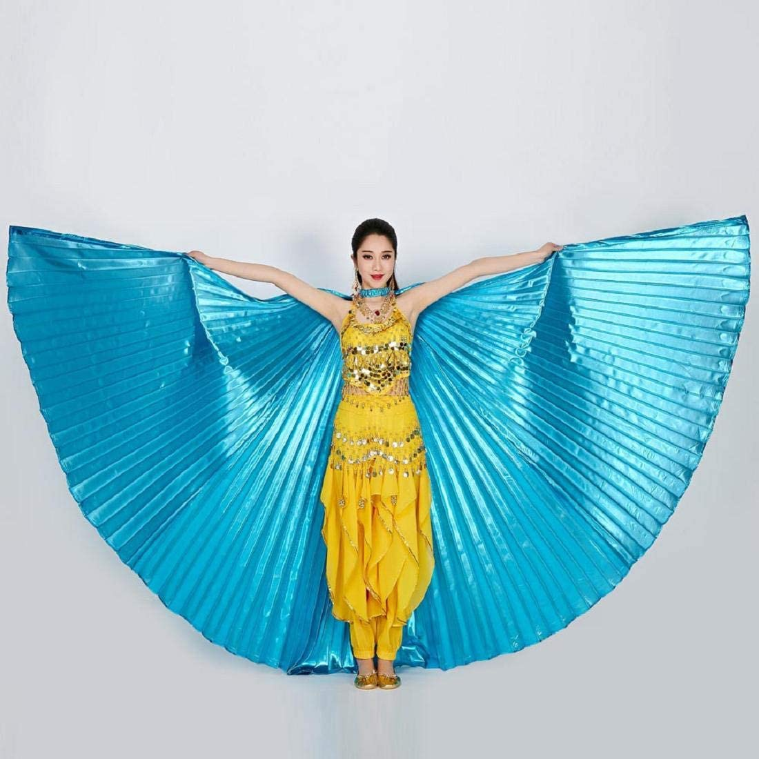 Yeefant Egypt Belly Wings Dancing Costume Belly Dance Accessories No Sticks Performance Clothing