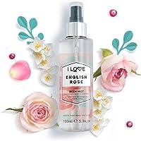 I Love Body Mist English Rose, 150 ml