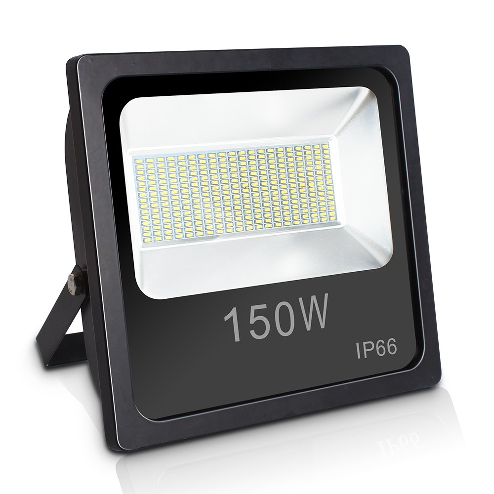 Ustellar 150W LED Flood Light, IP66 Waterproof, 15000lm, 400W HPS Bulb Equivalent, Outdoor Super Bright Security Lights, 5000K Daylight White, Floodlight Landscape Wall Lights