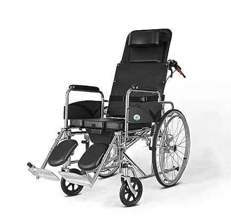 HJHY® Silla de ruedas con una luz de plegado de asiento Old man Disabled Wheelchairs