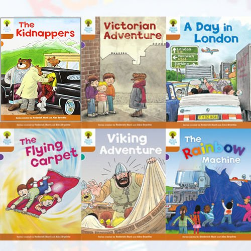 Oxford Reading Tree Level 8 Stories Roderick Hunt Collection 6 Books Bundle (The Kidnappers, A Day in London, The Rainbow Machine, The Flying Carpet, Victorian Adventure, Viking Adventure)
