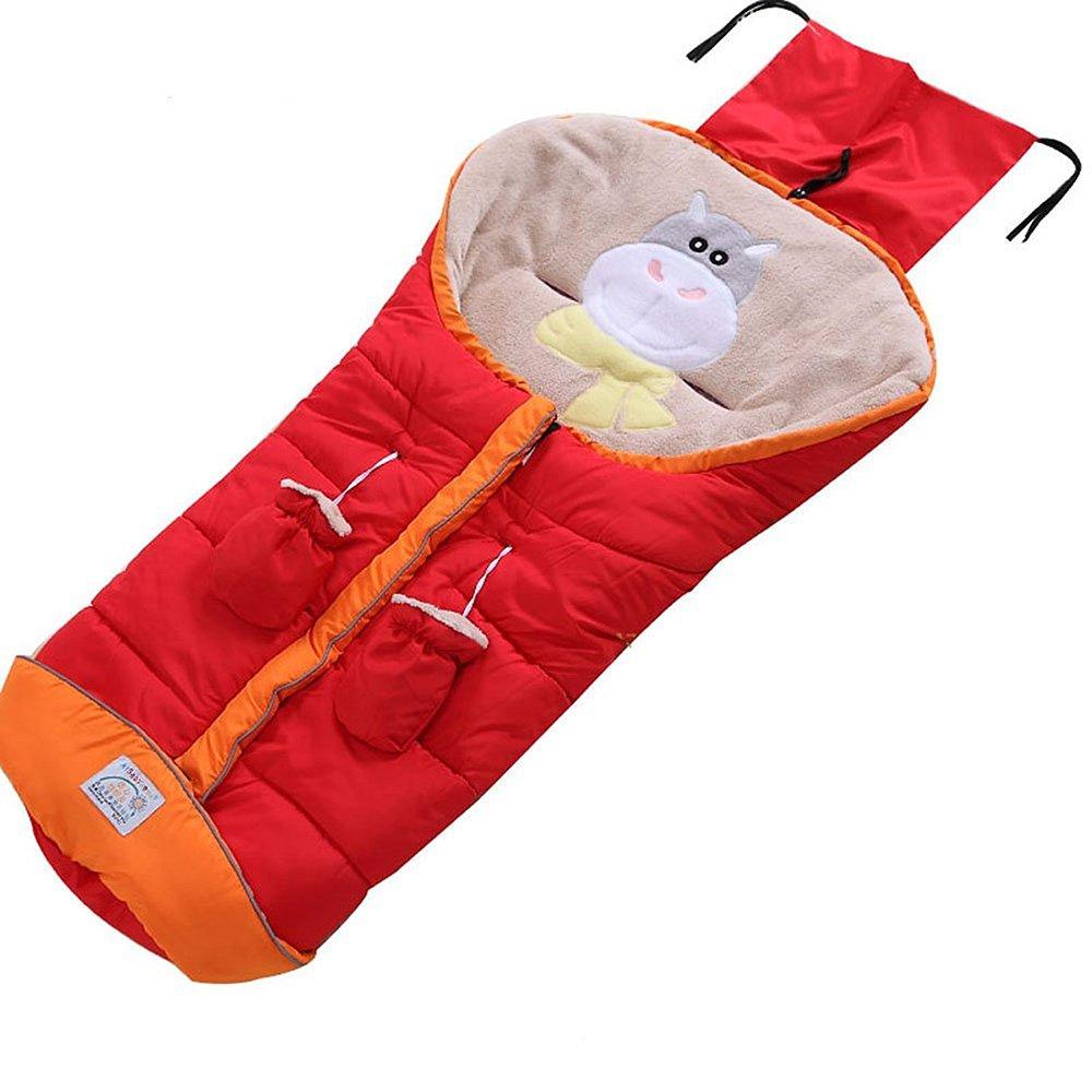 Sac de couchage bébé poussette, sac de couchage bébé chaud hiver, couette anti-coup de pied, tapis rampant, couette avec gants chauds hibasing