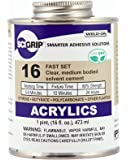 SCIGRIP 16 Acrylic Cement, Low-VOC, Medium bodied, 1 Pint Can with Screw-on Cap, Clear
