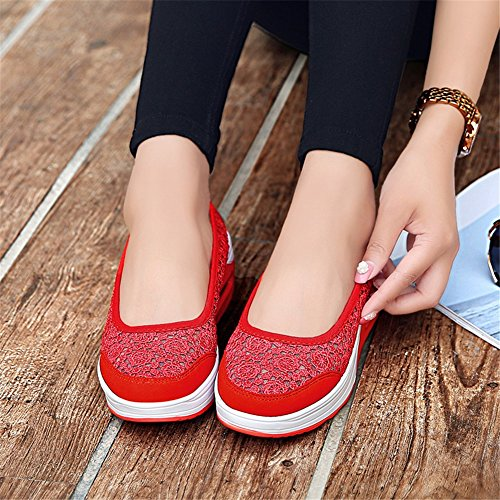 Summer altura For Low Travel baja Walk perezosos SHINIK Zapatos boca Shoes Shoes de aumento New Mesh Top Casual mujer UN Work de Slip On Shake Zapatos 1qqtTp6