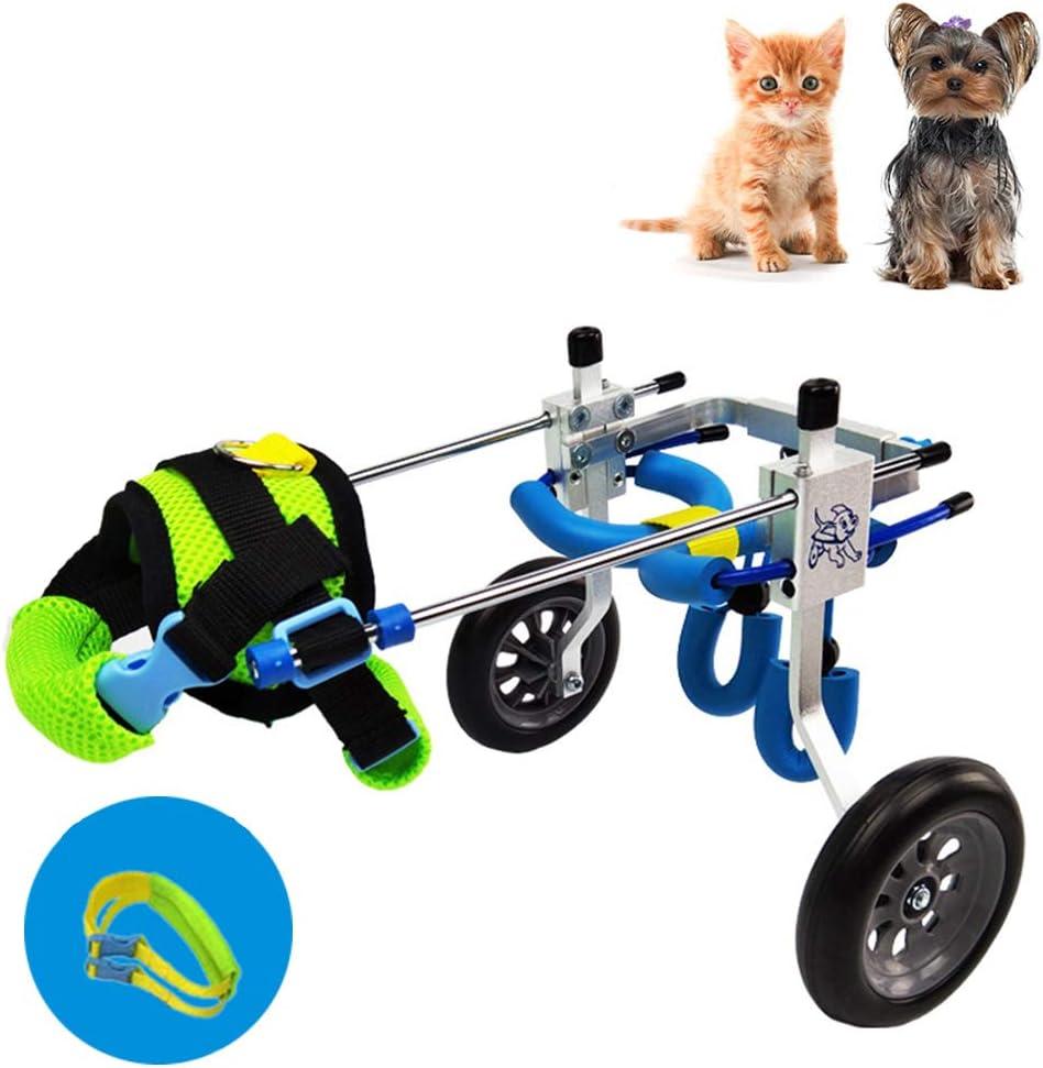 Silla de Ruedas para Perros Gatos Conejo, Wheelchair para Artritis Rehabilitación, Rehabilitación Postoperatoria, Patas Lesionada, Mascotas Viejas/Discapacitadas/Discapacitadas, 1.5~16 KG