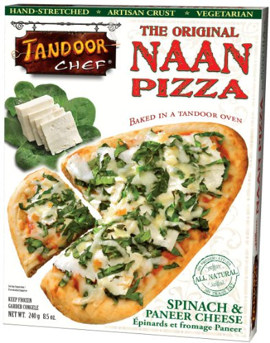 Spinach & Paneer Cheese Naan Pizza, 8.5-Ounce Boxes (Pack of 12)