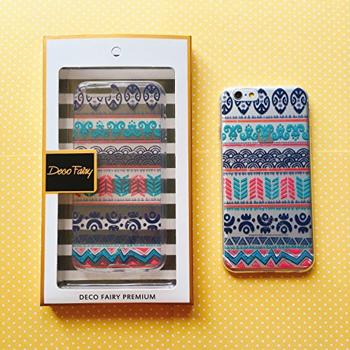 iPhone 8 / 7 Compatible , Colorful Rubber Flexible Silicone Case Bumper for Apple Clear Cover - Mandala Tapestry Pattern - Gucci Bag Clear
