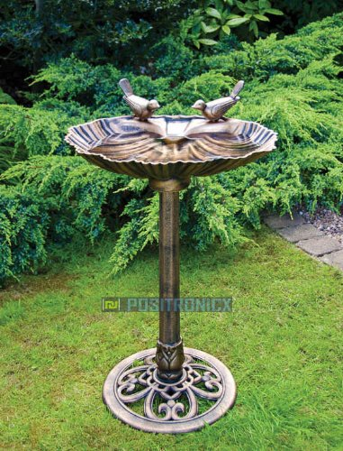 Double Bird Bath With 2 Bird Design
