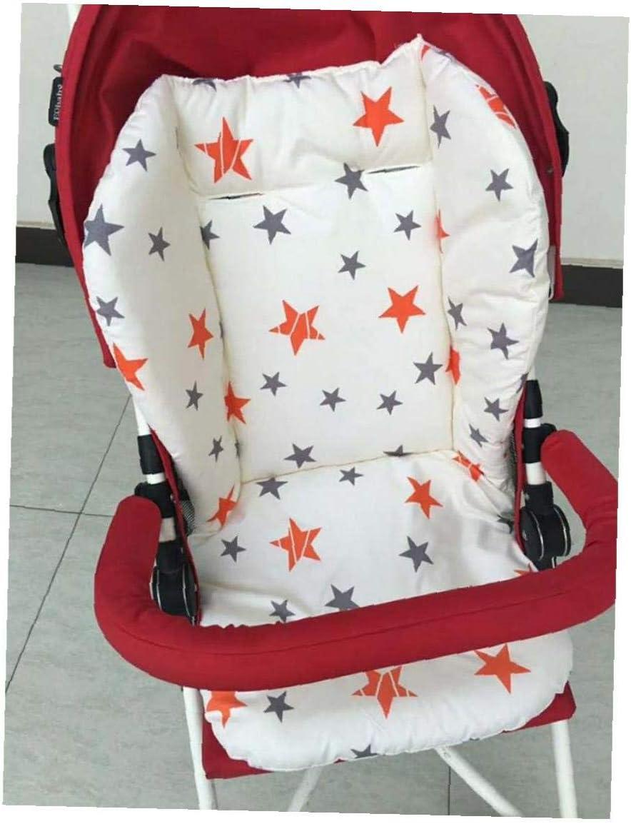 YZLSM 1pc Poussette b/éb/é Respirant Seat Pad Voiture Seat Liner Chaise Haute Coussin Doublure Tapis Coton Coussin de Couverture de Protection pour b/éb/é Nourrisson Star