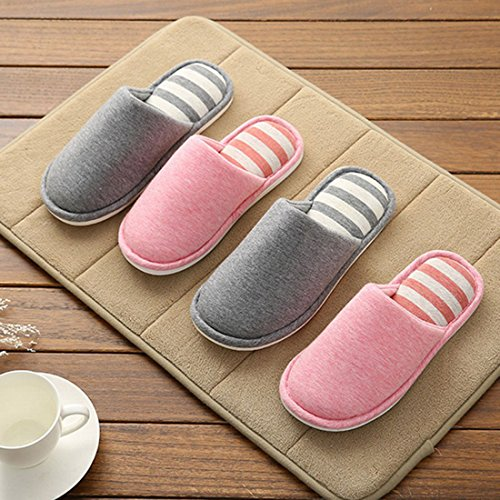 Slip FREAHAP Indoor 9 Cotton Slippers House Toe Slippers R Open No 4qw4ang18