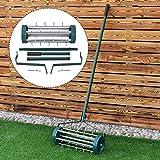 COLIBROX--Heavy Duty Rolling Garden Lawn Aerator
