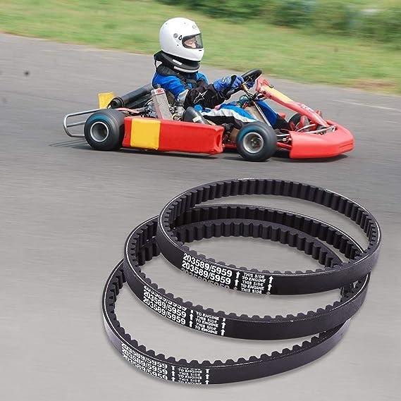 Rockyin 3 x 30 Serie Circuito de karts de la correa de transmisi/ón for Reemplaza Manco 5959//203589 Comet