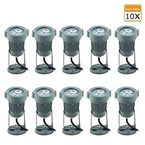 2//4X IP65 Stück LED Strahler Außenstrahler Bodenleuchte Erdspieß Lampe Aussen